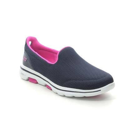 Skechers Trainers - Navy Pink - 124038 GO WALK 5 FANTASY