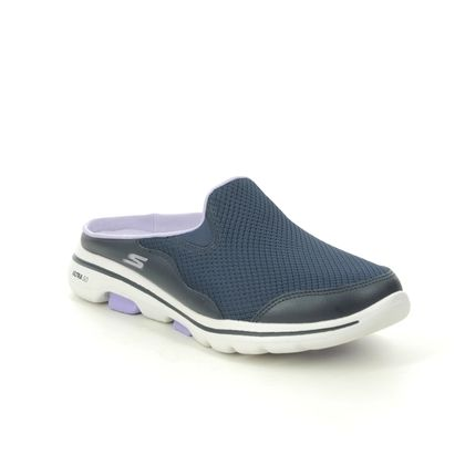 Skechers Slippers - Navy Lavender - 124023 GO WALK 5 MULE