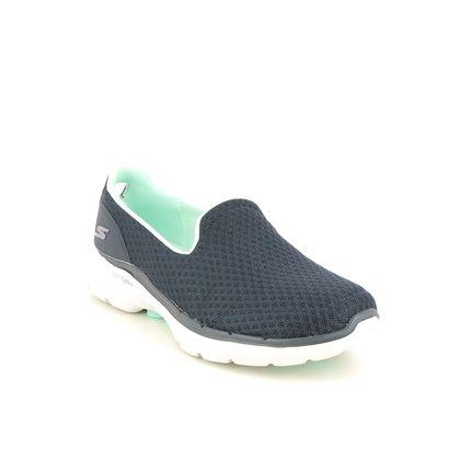 Skechers Trainers - Navy Turquoise - 124508 GO WALK 6