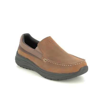 Skechers Slip-on Shoes - Brown - 65620 HARSEN ORTEGO