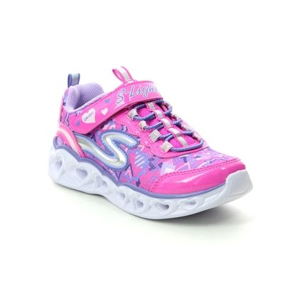 Skechers Girls Trainers - PINK MULTI - 20180 HEART LIGHTS