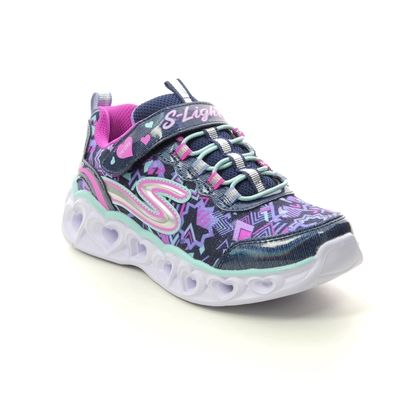 Skechers Girls Trainers - Navy - 20180L HEART LIGHTS