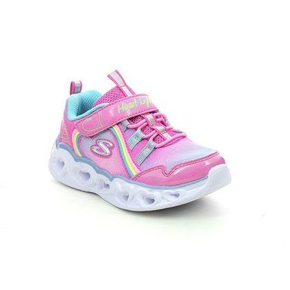 Skechers Girls Trainers - Pink - 302308N HEART LIGHTS IN