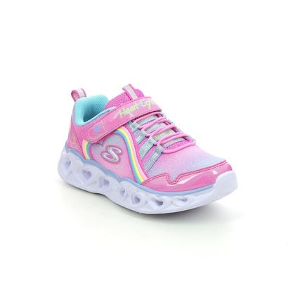 Skechers Girls Trainers - Pink - 302308L HEART LIGHTS LUX