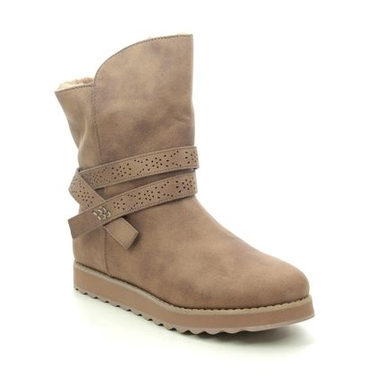 Skechers Ankle Boots - Taupe - 167116 KEEPSAKES MID