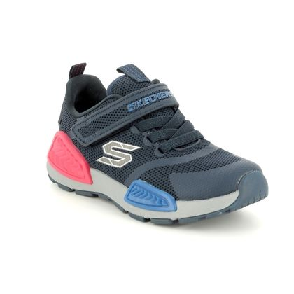 Skechers Boys Trainers - Navy - 97670 KINECTORS