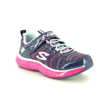 Skechers Girls Trainers - Navy - 20283L LIGHT SPARKS