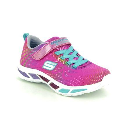 Skechers Girls Trainers - Pink multi - 10959 LITEBEAMS GLEA