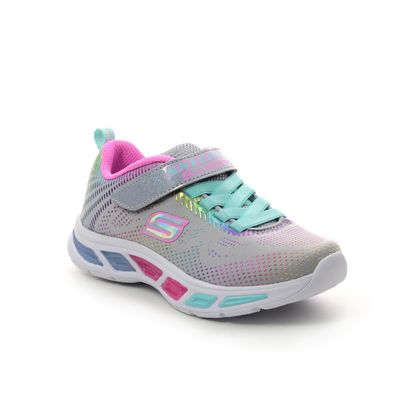 Skechers Girls Trainers - Grey - 10959 LITEBEAMS GLEA