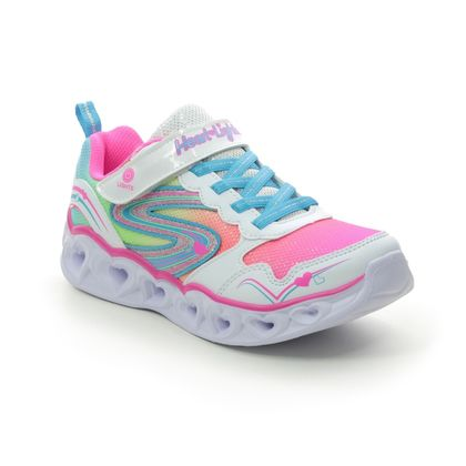 Skechers Girls Trainers - White Multi - 20294L LOVE SPARKS