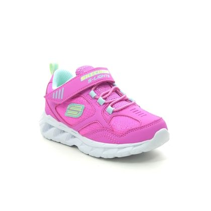 Skechers Girls Trainers - Pink - 302092N MAGNA LIGHTS