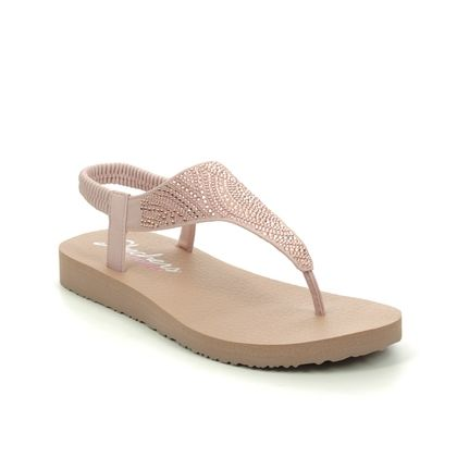 Skechers Flat Sandals - Blush Pink - 32919 MEDITATION MOON