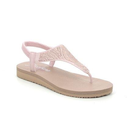 Skechers Flat Sandals - Blush Pink - 32919 MEDITATION MOON
