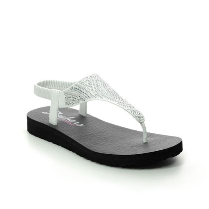 Skechers Flat Sandals - White - 32919 MEDITATION MOON