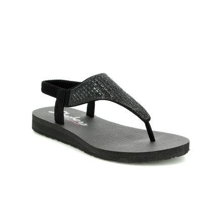 Skechers Flat Sandals - Black - 31560 MEDITATION ROCK CROWN
