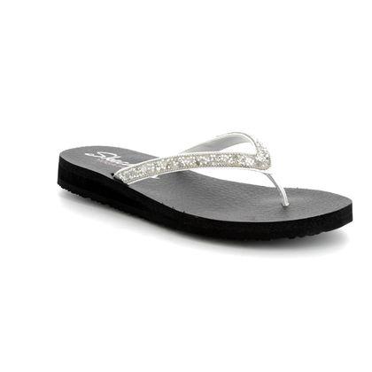 Skechers Toe Post Sandals - White - 31569 MEDITATION TAIHITI