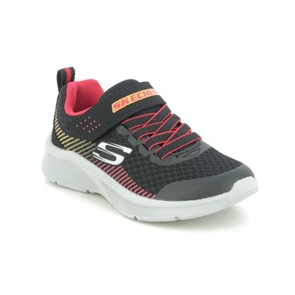 Skechers Boys Trainers - Black-red combi - 97535L MICROSPEC