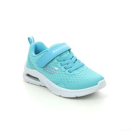 Skechers Girls Trainers - Aqua - 302377L MICROSPEC MAX