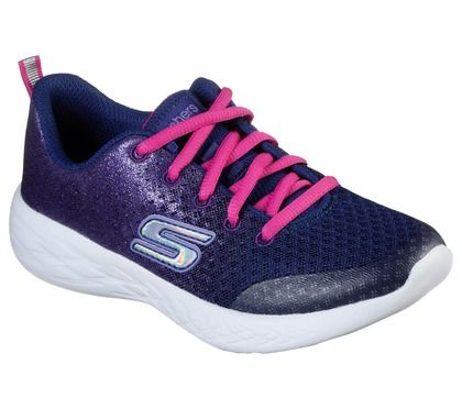 Skechers Girls Trainers - Navy Pink - 82020L SPARKLE SPEED