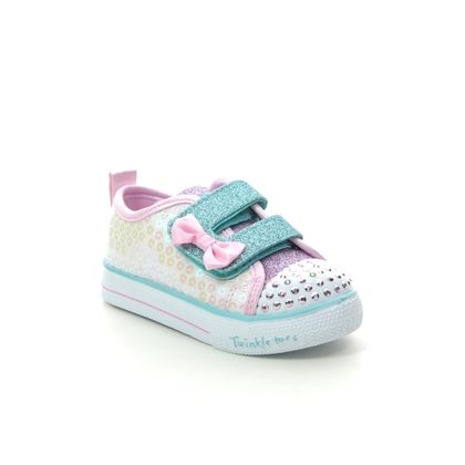 Skechers Girls Trainers - White Pink - 20063N MINI MERMAID