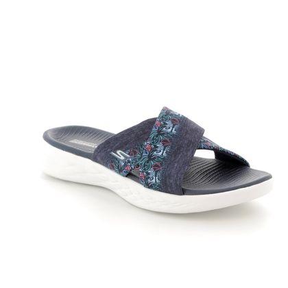 Skechers Slide Sandals - Navy - 15306 MONARCH 600