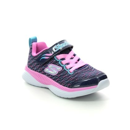 Skechers Girls Trainers - Navy Pink - 83017 MOVE N GROOVE
