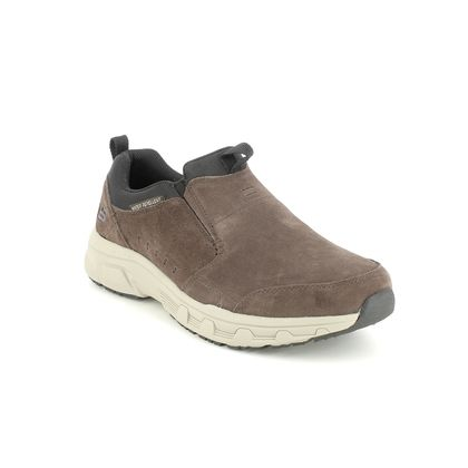 Skechers Slip-on Shoes - Chocolate Brown Black - 237282 OAK CANYON SLIP ON RELAXED
