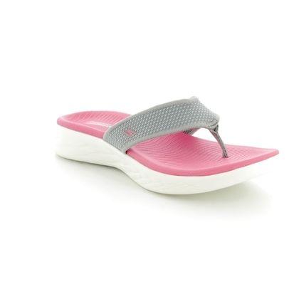 Skechers Toe Post Sandals - Grey croc - 15300 ON THE GO 600
