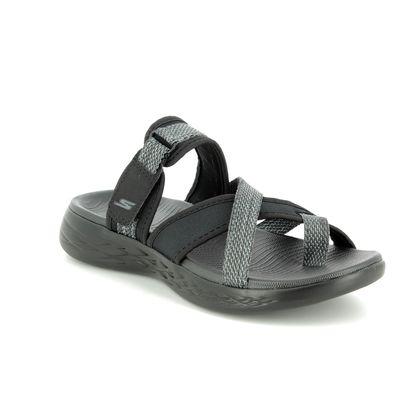 Skechers Slide Sandals - Black grey - 15308 ON THE GO GLOW