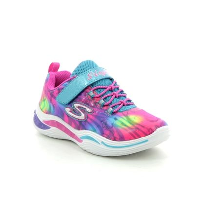 Skechers Girls Trainers - Pink Turquoise - 20203N POWER PETALS INF