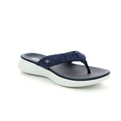 Skechers Toe Post Sandals - Navy - 15304 PREFERRED