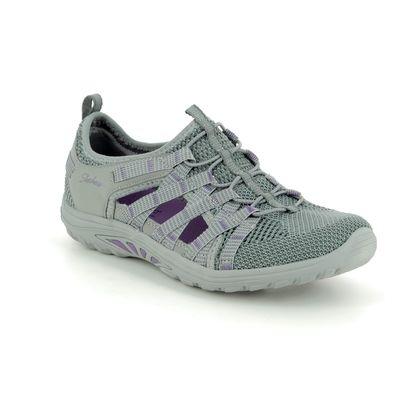 Skechers Closed Toe Sandals - Grey - 49589 REGGAE FEST RELAXED