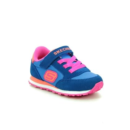 Skechers Girls Trainers - Blue-Orange - 82256N RETRO SNEAKS