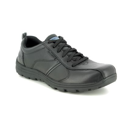 Skechers Casual Shoes - Black - 77036 SAFETY WORK LACING SLIP RESISTANT