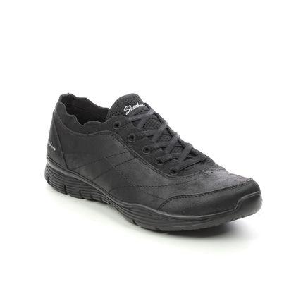 Skechers Comfort Slip On Shoes - Black - 158175 SEAGER