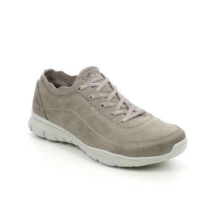 Skechers Comfort Slip On Shoes - Dark Taupe - 158175 SEAGER