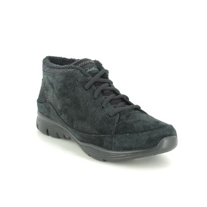 Skechers Lace Up Boots - Black - 158178 SEAGER HI
