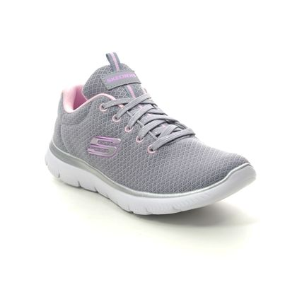 Skechers Girls Trainers - Grey Pink - 302070L SIMPLY SPECIAL