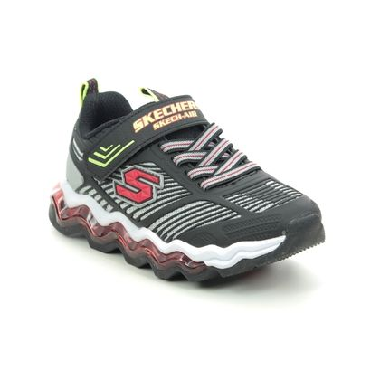 Skechers Boys Trainers - Black-red combi - 97952L SKECH AIR WAVES