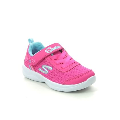 Skechers Girls Trainers - Hot Pink Turquoise - 82120N SKECH STEPZ 2.0