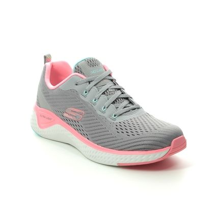Skechers Trainers - Grey Pink - 149051 SOLAR FUSE LACE