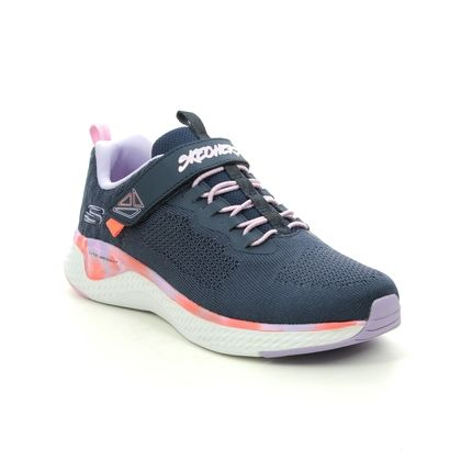 Skechers Girls Trainers - Navy - 302041L SOLAR FUSE PAINT POWER