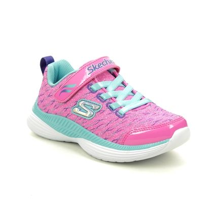 Skechers Girls Trainers - Pink Turquoise - 83017L SPARKLE SPINNER