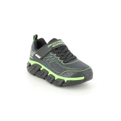 Skechers Boys Trainers - Charcoal Black Lime - 403805L TECH GRIP TEX