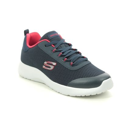 Skechers Boys Trainers - Navy Red - 97771L TURBO DASH