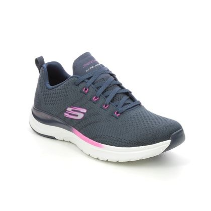 Skechers Trainers - Navy Pink - 149022 ULTRA GROOVE