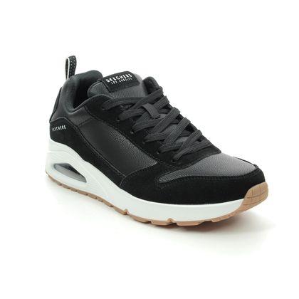 Skechers Trainers - Black-white - 52468 UNO STACRE