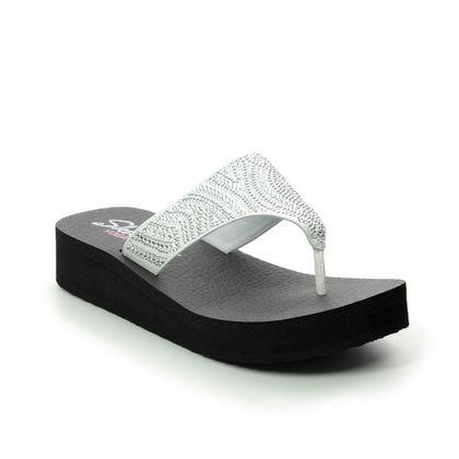 Skechers Toe Post Sandals - White - 31614 VINYASA CANDY