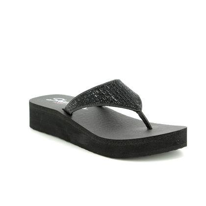 Skechers Toe Post Sandals - Black - 31601 VINYASA TIGER