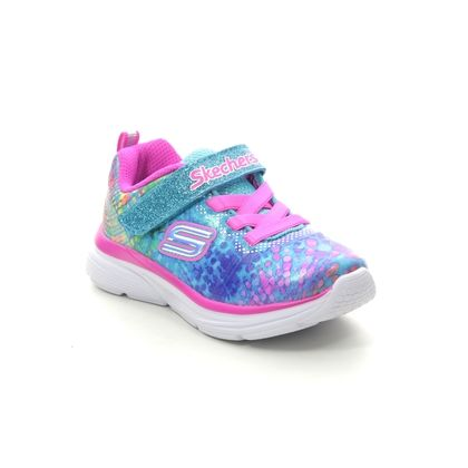 Skechers Girls Trainers - Blue-pink - 81385N WAVY LITES INF